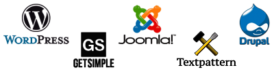 CMS: Wordpress - Joomla! - Drupal - Get Simple - Textpattner